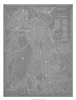 City Map of Boston Fine Art Print