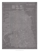 """City Map of San Francisco by Vision Studio - 20"""" x 26"""""""