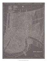 City Map of New Orleans Fine Art Print