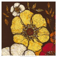 "Fire Bloom I by Andrea Davis - 19"" x 19"", FulcrumGallery.com brand"