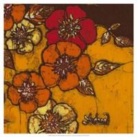 """19"""" x 19"""" Orange Flowers"""