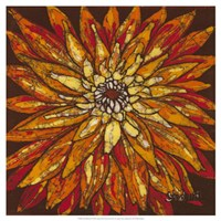 "Fire Bloom IV by Andrea Davis - 19"" x 19"", FulcrumGallery.com brand"