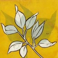 Gold Batik Botanical I Fine Art Print