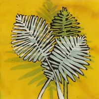 Gold Batik Botanical III Fine Art Print