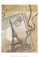 Paris Memories I Framed Print