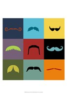 Moustache Grid Fine Art Print