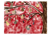 Red Pear Tree Fine Art Print
