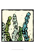 "Teal Batik Botanical III by Andrea Davis - 13"" x 19"""