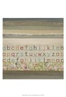 """13"""" x 19"""" Alphabet Art"""