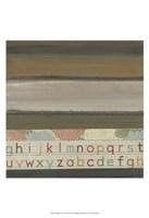 "Alphabet II by W Green-Aldridge - 13"" x 19"""