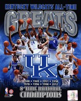 University of Kentucky Wildcats All Time Greats Composite Framed Print