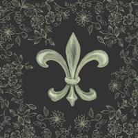 Fleur de Lis - Black Fine Art Print