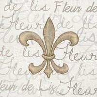 Fleur de Lis - White Fine Art Print