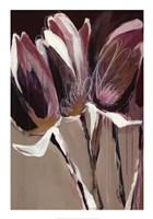 Aubergine Splendor I Framed Print