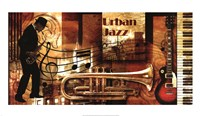 Urban Jazz Framed Print