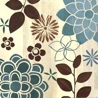 """Abstract Garden Blue II by Veronique Charron - 12"""" x 12"""""""