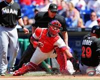 Carlos Ruiz Baseball Tag Fine Art Print