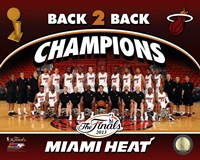 Miami Heat 2013 NBA Champions Team Photo Fine Art Print