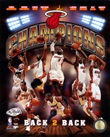 Miami Heat 2013 NBA Champions Composite Fine Art Print