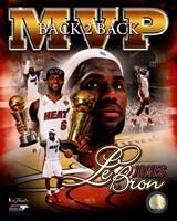 LeBron James 2013 NBA Finals MVP Portrait Plus Fine Art Print