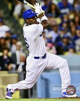 Yasiel Puig Baseball Hitting Action Fine Art Print