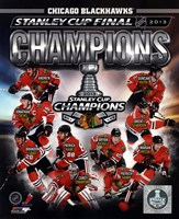 Chicago Blackhawks 2013 NHL Stanley Cup Champions Composite Fine Art Print