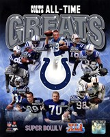 Indianapolis Colts All Time Greats Composite Framed Print