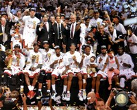The Miami Heat Celebrate Winning Game 7 of the 2013 NBA Finals Fine Art Print