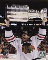 "Duncan Keith with the Stanley Cup Game 6 of the 2013 Stanley Cup Finals - 8"" x 10"", FulcrumGallery.com brand"