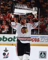 Bryan Bickell with the Stanley Cup Game 6 of the 2013 Stanley Cup Finals Fine Art Print