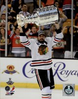 Patrick Sharp with the Stanley Cup Game 6 of the 2013 Stanley Cup Finals Fine Art Print