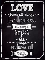 Love Endures Fine Art Print