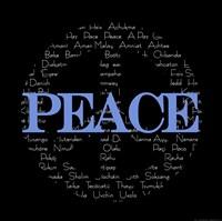 Peace Sign - black Fine Art Print