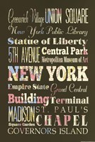 """New York Sites II by s - 12"""" x 18"""" - $12.99"""