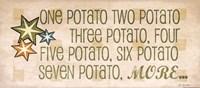 One Potato Framed Print
