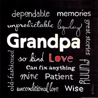 """Grandpa Love by Karen Tribett - 12"""" x 12"""""""
