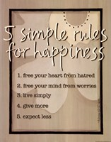 Five Simple Rules Fine Art Print