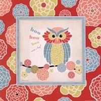 """Owl 1 Frame by Stephanie Marrott - 12"""" x 12"""""""