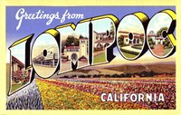 Greetings from Lompoc California Fine Art Print
