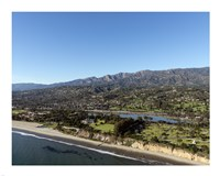 Aerial view Santa Barbara, California Fine Art Print