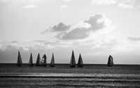 Group of Sailboats Sailing in the Sea - various sizes - $36.99