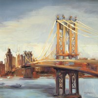 "Sunny Manhattan Bridge by Marilyn Hageman - 27"" x 27"" - $19.99"