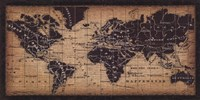 Old World Map ( in French) Fine Art Print