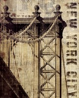 Vintage NY Manhattan Bridge Fine Art Print