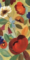 "Summer Floral Panel II by Silvia Vassileva - 12"" x 24"" - $13.99"
