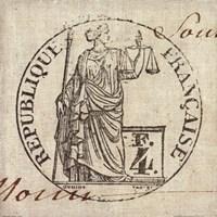 Letter Crest V Framed Print