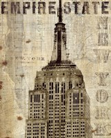 """Vintage NY Empire State Building by Michael Mullan - 16"""" x 20"""", FulcrumGallery.com brand"""