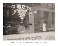 Billiards Hall, Greensboro, North Carolina Fine Art Print