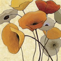 Pumpkin Poppies III by Shirley Novak - various sizes
