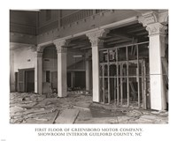 First Floor of Greensboro Motor Company Guilford County, NC Fine Art Print